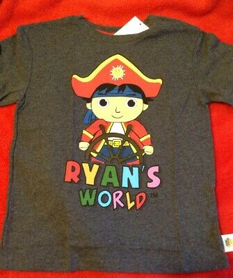 dec94d1cc RYAN'S WORLD BOY'S Graphic Tee Shirt Size 5/6 Pirate - $13.99 | PicClick