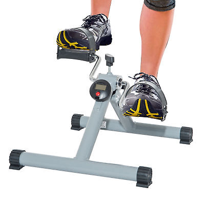 Foldable Pedal Exerciser Cycle Leg Arm w/ LCD Display Fitness Home Gym