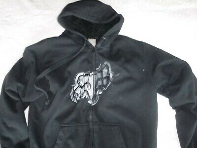 c43f7cf9355 Pre Owned Mens Black Large Fox Racing Black Sweatshirt Hoody Zipper Front  Jacket