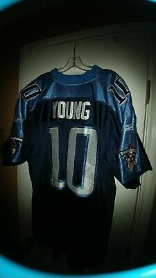 bf7f1b7de64d Reebok Tennessee Titans Vince Young  10 NFL Football Jersey Mens 54 2XL Sewn