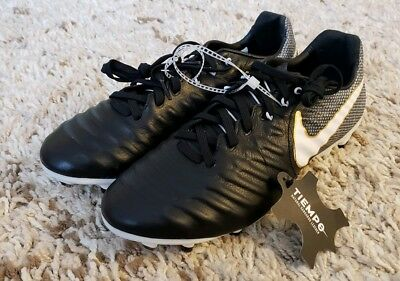 1274c625a6c5 Nike Tiempo Legacy III 3 FG LTR Soccer Cleats Black Gold 897748-002 Size 7.5