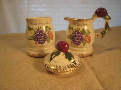 Vintage Knotts Berry Farm Cream and Sugar Bowl with Lid Art Glow Studio