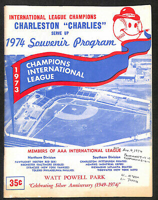 1974 Charleston Charlies Pawtucket Red Sox Official Program