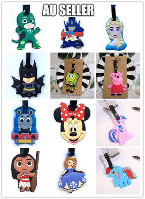 Boy/Girl Cartoon Silicone Travel School Bag Tag Name Luggage ID Suitcase Label