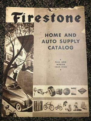 1939-40 Firestone Fall Winter Catalog Auto Supplies,Tires, Bicycles  etc