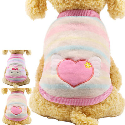 Pet Puppy Cat Coats Jacket Warm Fleece Small Dog Costume Clothes Autumn/Winter