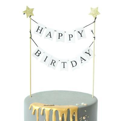 1Set Cake Topper Kids Baby Shower Happy Birthday Party Banner Flag Cupcake Flags