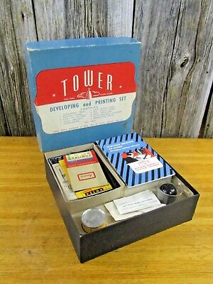 Uncommon Vintage Tower #6868 Film Developing and Printing Set in Original Box