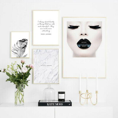 Fashion Beauty Girl Wall Art Canvas Poster Nordic Print Painting Room Decoration