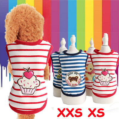 Small Dog Clothes Cotton Soft Vest Cartoon Pattern Puppy Cat Shirt For Milk Dogs