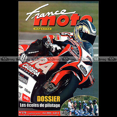 FRANCE MOTO N°376 ★ Couverture : RANDY DE PUNIET sur APRILIA ★ 2004