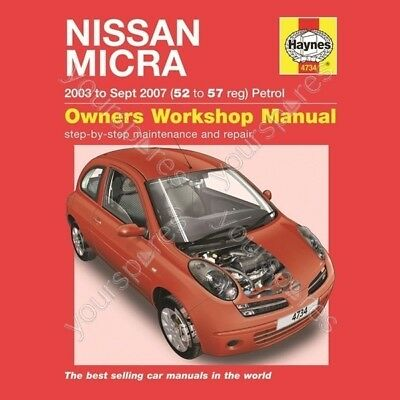 Haynes Nissan Micra (03 - Oct 10) 52 to 60 Reg - Car Manual