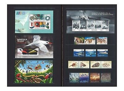Australia 2016 Territories Collection of Stamps & Miniature Sheets Mint Unhinged