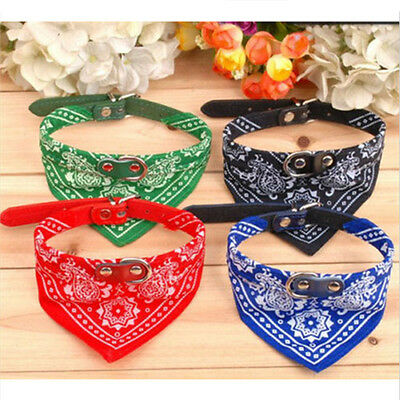 Vouge Adjustable Pet Dog Puppy Cat Neck Scarf Bandana with Collar Neckerchief A