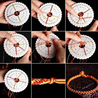 2Pcs/set Kumihimo Beading Cord Disc/Disk Rope Handmade Weaving Braiding Tools