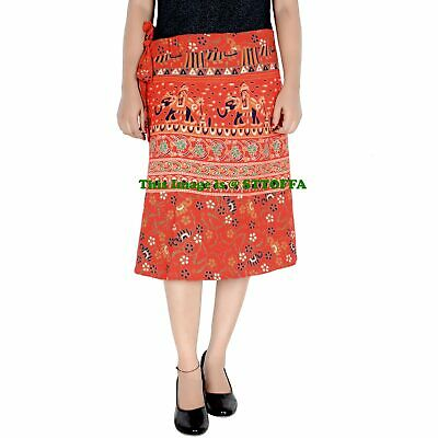 Cotton Indian Women Knee Skirt Hippie Ombre Mandala Print Skirt Girls Skirt