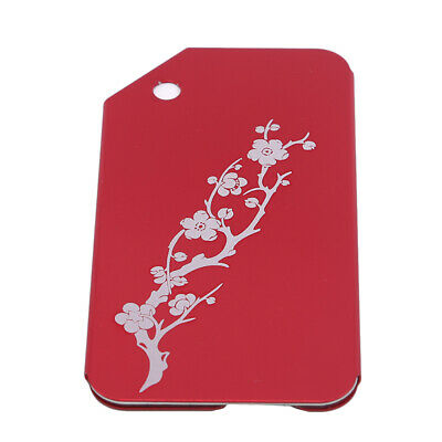 Metal Travel Luggage Tags Suitcase Name Tag Floral Print Luggage Accessories LG