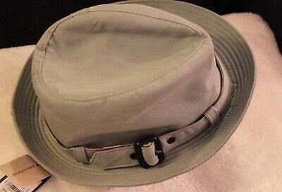 8ba512fff08 Authentic NWT BURBERRY Hat Gaberdine Trilby Cotton Pale China Holiday Gift   295