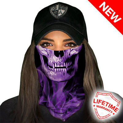 SA COMPANY Face Shield MULTI-USE TUBULAR BANDANA Purple Crow