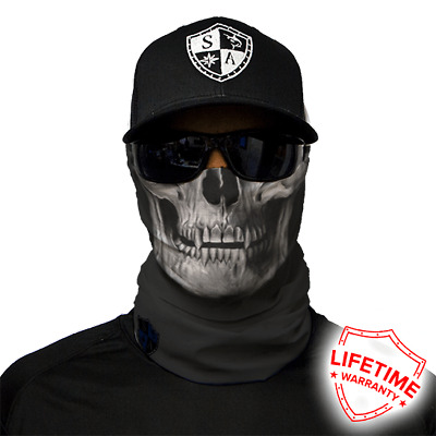 SA COMPANY Face Shield MULTI-USE TUBULAR BANDANA Tactical Black Skull