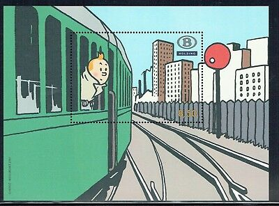 Belgium 2007 Railway Parcel Stamp MS - Tintin unmounted mint