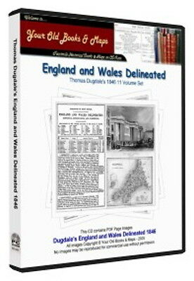 Thomas Dugdale England & Wales delineated 1846 11 vol CDROM