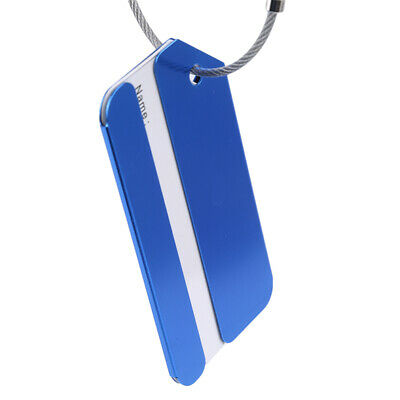 Aluminum Travel Luggage Tag Straps Suitcase Portable Address Labels Tags B