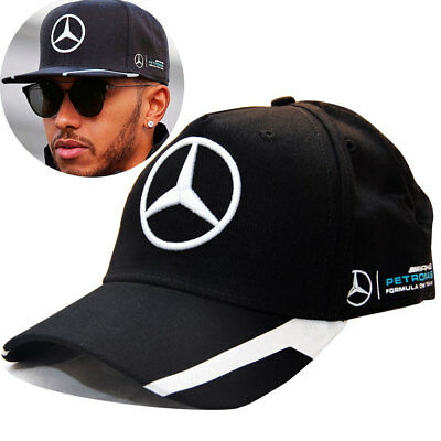 NEW F1 LEWIS HAMILTON BASEBALL CAP MERCEDES AMG FORMULA ONE 1 HAT black grey