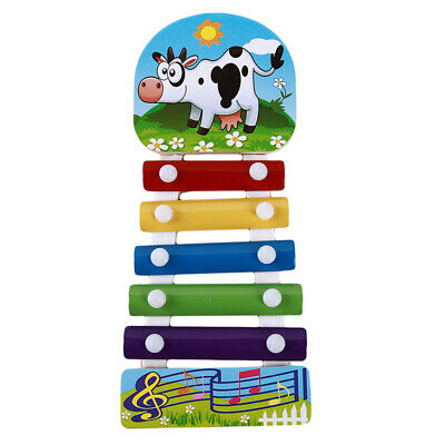 Wooden Five-Tone Xylophone Music Toy Beat Musical Instrument Chidlren Gifts 6A