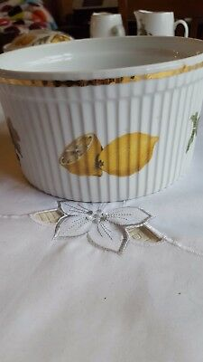 "Royal Worcester ""Evesham""Souffle Dish large. oven to table ware"