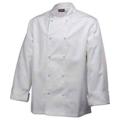 Long Sleeve Basic Chef Jacket, Buttoned Size Small. Special Offer!