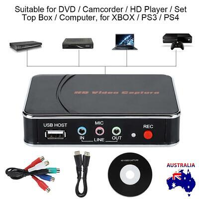 Video Capture HD 1080P Grapper BOX USB HDMI for PC Game Live DVD TV Set Top Box