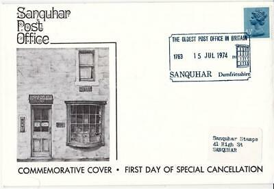 1974 Sanquhar Post Office - 4½p - First Day of H/S