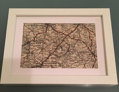 Vintage Map of West Yorkshire