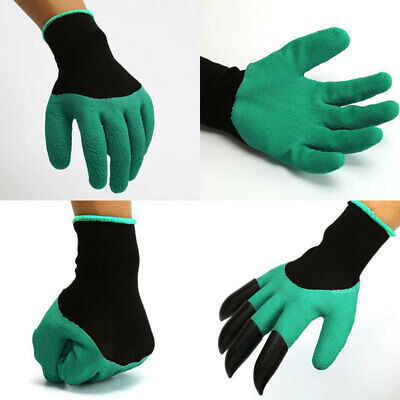 Hot Garden Gloves Digging&Planting with 4 ABS Plastic Claws Gardening Wate IVN