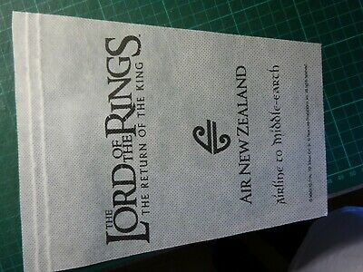 The Lord Of The Rings Return Of The King Air New Zealand Original Pennant