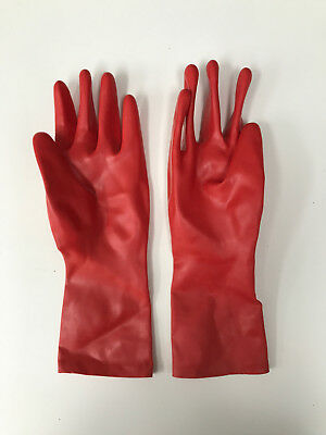 Short RED Gloves LATEX M/L thick 0,8mm
