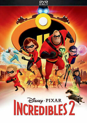 Incredibles 2 DVD - New - Region 1 - Free Postage