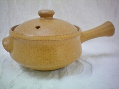 Denby Ode Individual Covered Lidded Long Handled Soup Casserole Bowl Dish (B)