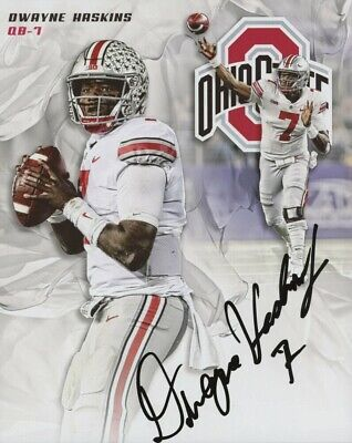 Dwayne Haskins Autographed Signed 8x10 Photo Ohio State REPRINT