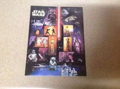 USPS Star Wars sheet 15 41c stamps 2007 30th Anniversary