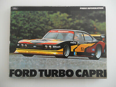 Ford Turbo Capri Press Information Pressemappe inkl. Fotos 1978, Very rare!!!