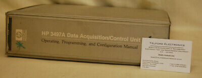 HP3497A Data Acquisition/Control Unit Operating Programming Configuration Manual
