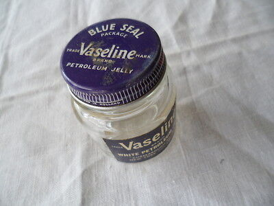 Vintage Old Antique Vaseline Bottle Medical Chemist Medicine