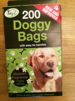 2000 TidyZ  Scented Fragranced Doggy Poo  Waste Bags With Tie Handles LAST FEW