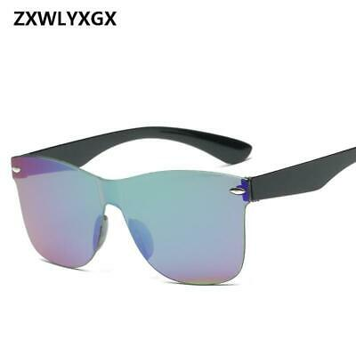 ZXWLYXGX 2019 Adult New Fashion Mirror Sunglasses Women Men Wholesale Fashion Co