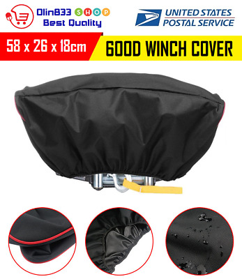 600D Waterproof Soft Winch Heavy Dust Cover Driver Roll Recovery 5000-13000LBS