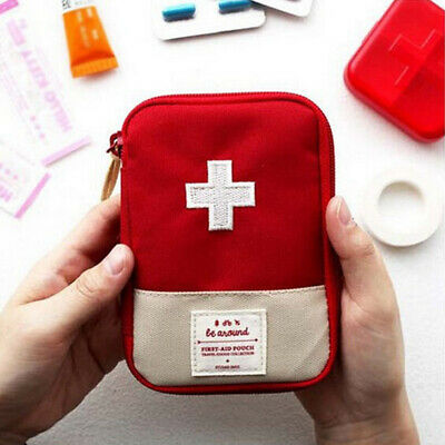 Travel First Aid Kit Home Small Medical Bag Emergency Rescue Pill Pouch USA