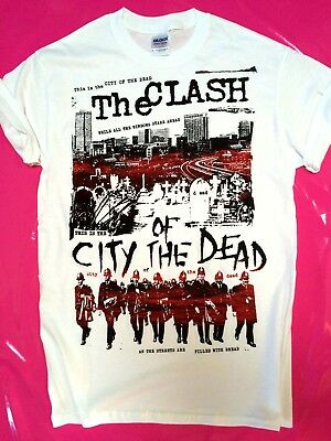 The Clash City Of The Dead  screen printed t-shirt punk rock size S-XXL Strummer