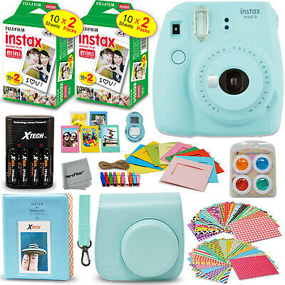 Fujifilm Instax Mini 9 Instant Camera (Ice Blue) + 40 Sheet Film + Accessory Kit